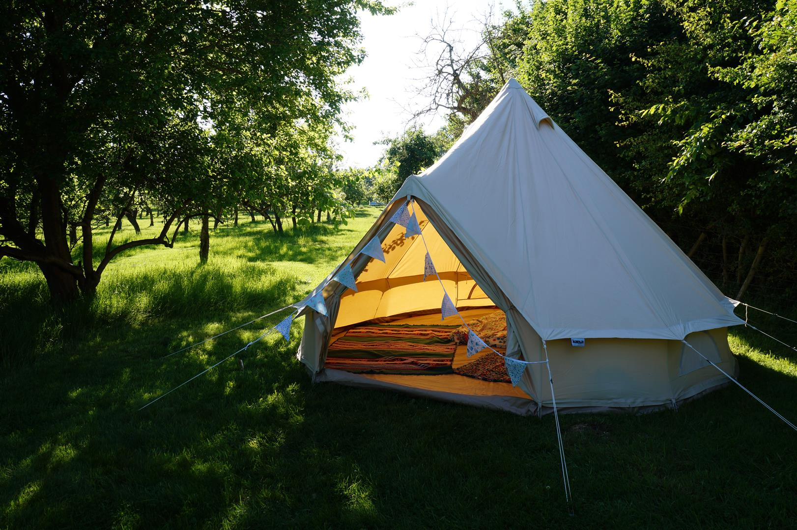 The Bell Tents & The Orchard Getaway u2013 Yurt and Bell Tent Glamping in the Vale of ...
